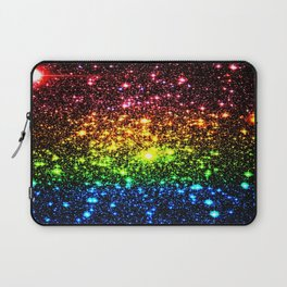 Rainbow Sparkle Galaxy Stars Laptop Sleeve