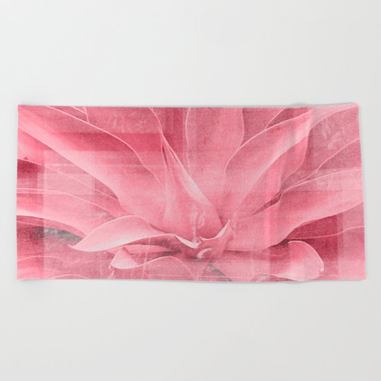 Abstract Leaves Beach Towel