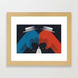 Debate Framed Art Print