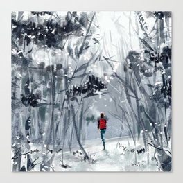 Snowy forest Canvas Print