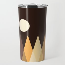 Coffee Sky with Creamy Moon on Capuccino Forest Travel Mug