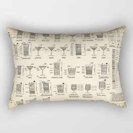 COCKTAIL poster, cocktail chart print Rectangular Pillow
