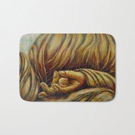 """""""Healing Hands- Aakash Mudra, Gesture of View """" Bath Mat"""