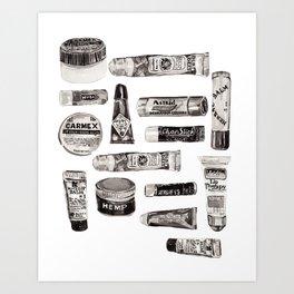 Lipbalm Collection Art Print