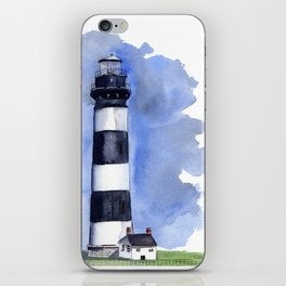 Bodie Island Lighthouse loose watercolor painting iPhone Skin