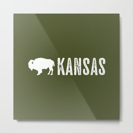 Bison: Kansas Metal Print
