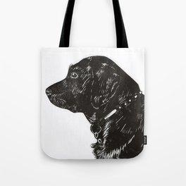 Black Lab Print Tote Bag