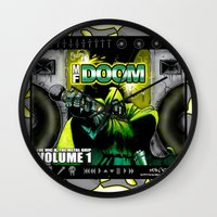 doom Wall Clocks featuring DOOM by D.Armendariz