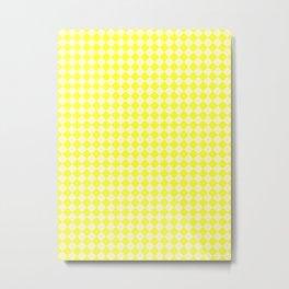 Cream Yellow and Electric Yellow Diamonds Metal Print
