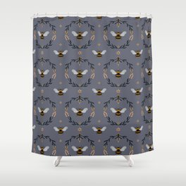 Ode to the Bumblebee (in lavender) Shower Curtain