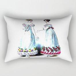 Vintage Wedding Bridesmaids Rectangular Pillow