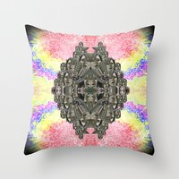 monika strigel Throw Pillows featuring Monika by Ancient Origin