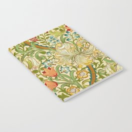William Morris Golden Lily Vintage Pre-Raphaelite Floral Art Notebook