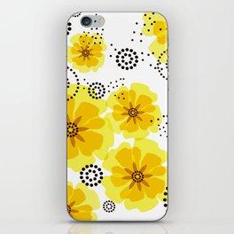 PEPPER POPPIES | yellow iPhone Skin
