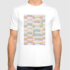 multicoloured AZTEC + MEDIUM White Mens Fitted Tee