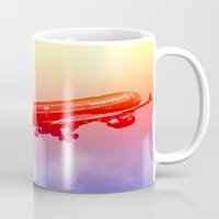 vietnam Mugs featuring VIETNAM AIRLINES by Anile McLean
