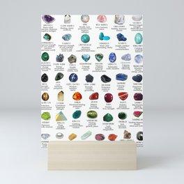 crystals gemstones identification Mini Art Print