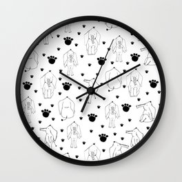 Elephant patterns Wall Clock