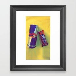 redpull snickers Framed Art Print