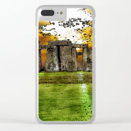 Henge at Sunsleep - Stonehenge Clear iPhone Case