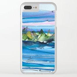 Montagne-fleuve si beau! Clear iPhone Case