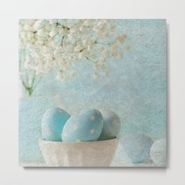 Limpet shell color eggs  Metal Print