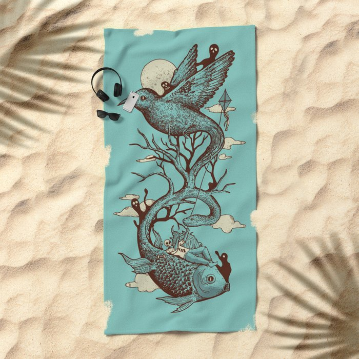 Escape from Reality Beach Towel