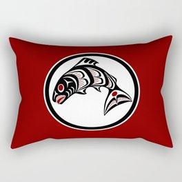 Northwest Pacific coast Haida art Salmon Rectangular Pillow