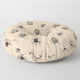 Honeybee Pattern Floor Pillow