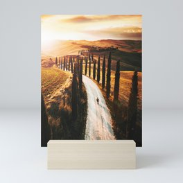 val d'orcia landscape Mini Art Print