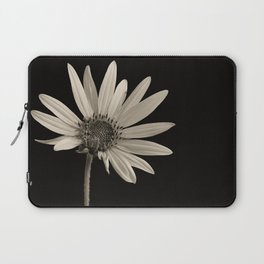 Black And White Sunflower Laptop Sleeve