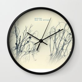 gretchen, dust the antiques Wall Clock