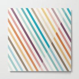 30 Degrees Diagonal Stripes Metal Print