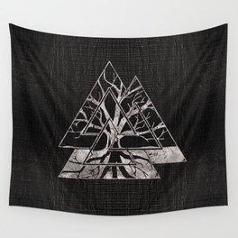 Valknut Symbol and Tree of life  -Yggdrasil Wall Tapestry