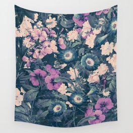 Floral Nights Space Dreams Wall Tapestry