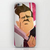 "brad pitt iPhone & iPod Skins featuring Brad Pitt as ""Aldo Rayne"" in ""Iglorious Basterds"" by nachodraws"