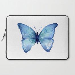 Blue Butterfly Watercolor Laptop Sleeve