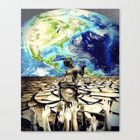 equality Canvas Prints featuring Equality by Kiki collagist