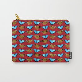 Butterflies (red) Carry-All Pouch