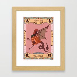 Year of the Cockatrice (Baba Nyonya) Framed Art Print