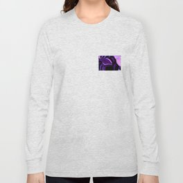 purple tropical flower abstract digital painting Long Sleeve T-shirt
