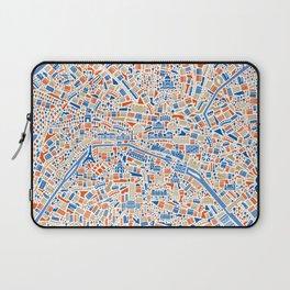 Paris City Map Poster Laptop Sleeve
