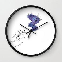 Galaxy smoke Wall Clock