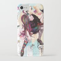 sandman iPhone & iPod Cases featuring Delirium, The Sandman by Anguiano Art