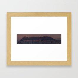 Panoramic of Gibraltar Framed Art Print