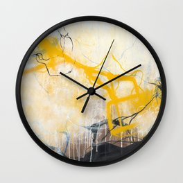 Storms - Square Abstract Expressionism Wall Clock