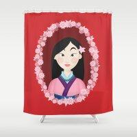 mulan Shower Curtains featuring Mulan  by Joey Ellson