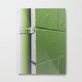 Green gutter Metal Print
