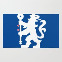 chelsea Area & Throw Rugs featuring Chelsea FC by Khaled