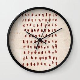 The 100 - Fingerprints Wall Clock